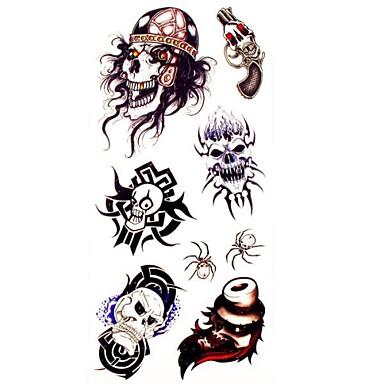 1buc rege craniu tatuaj impermeabil eșantion mucegai autocolant tatuaje temporare pentru body art (18.5cm * 8.5cm)