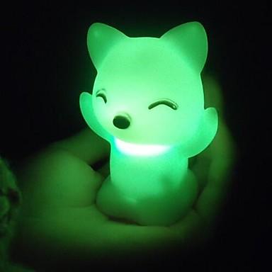 coway de vos katten kleurrijke led nightlight hoge kwaliteit nachtlampje