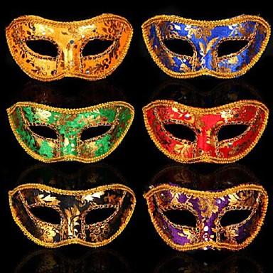 1pç Plástico Máscaras de Dia das Bruxas Máscaras