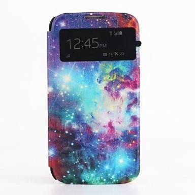 model pictură în ulei pu coperta din piele cu capac slot pentru card de i9500 Samsung Galaxy s4