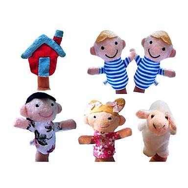 Schaf Marionetten Niedlich lieblich Spaß Textil Plüsch Geschenk 6pcs