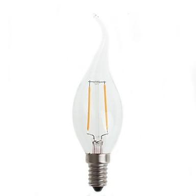 180-200lm E14 Lâmpadas de Filamento de LED CA35 2 Contas LED Decorativa Branco Quente 220-240V / # / CE / FCC / FCC