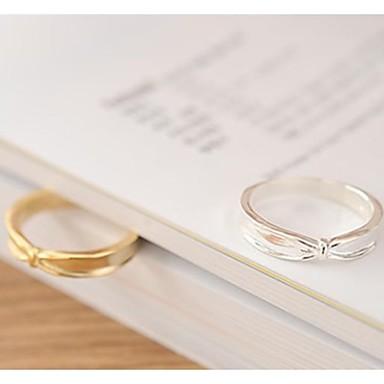 Pentru femei Argilă Placat Auriu Bowknot Shape Band Ring - Bowknot Shape Argintiu Auriu Inel Pentru Petrecere Zilnic Casual Sport