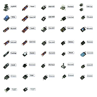 ultieme 37-in-1-sensor modules kit voor arduino&MCU onderwijs gebruiker 37 modules