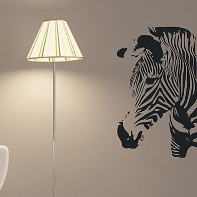 decalques de parede adesivos de parede, zebra de decoração para casa de parede kidsroom mural pvc adesivos
