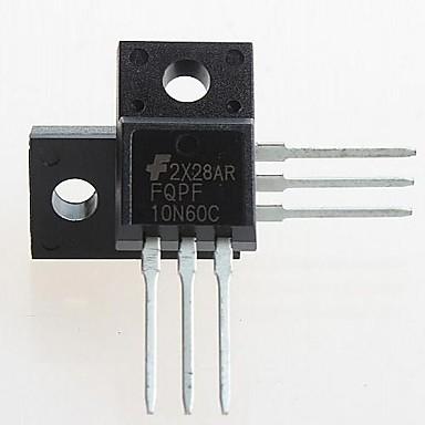 fqpf10n60c a-220 fqpf10n60 10n60c 10n60 600V n-canal MOSFET (5pcs)