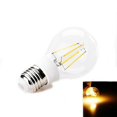 E26/E27 Bulb LED Glob 4 led-uri SMD Decorativ Alb Cald 380-400lm 2800K AC 220-240V