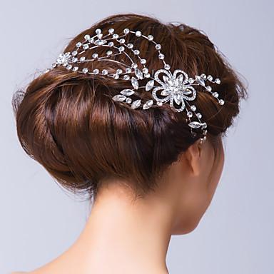 Γυναικείο Κράμα Cubic Zirconia Headpiece-Γάμος Ειδική Περίσταση Λουλούδια Καρφίτσα Μαλλιών