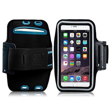 Pouzdro Uyumluluk iPhone 6s Plus iPhone 6 Plus Evrensel Pencereli Omuzbandı Kol Bandı Tek Renk Yumuşak Tekstil için