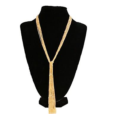 Mulheres Forma Borla Fashion Colares em Corrente Chapeado Dourado Liga Colares em Corrente Casamento Festa Diário Casual