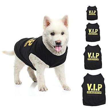 Katze / Hund T-shirt Hundekleidung Schwarz Baumwolle Kostüm Für Haustiere Sommer Cosplay / Hochzeit