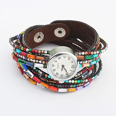 Damen Modeuhr / Armbanduhr Armbanduhren für den Alltag Leder Band Charme / Armbanduhr Schwarz / Weiß / Rot