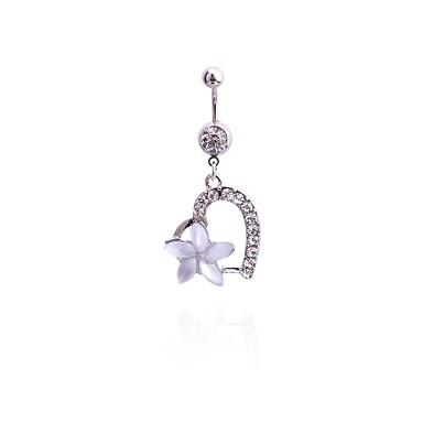 Kristal Göbek Halkası / Göbek Piercing - Kristal Kadın's Vücut Mücevheri Uyumluluk Yılbaşı Hediyeleri / Günlük