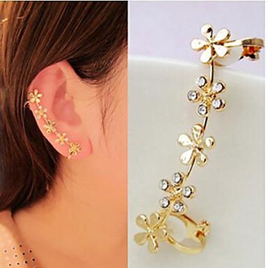 Ohr-Stulpen - Strass, Diamantimitate Blume Luxus, Geburtssteine Für Hochzeit Party Alltag