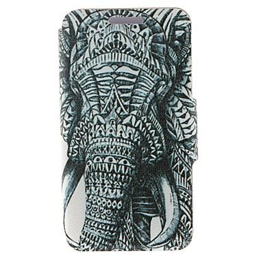Για Θήκη Nokia Θήκη καρτών / Ανοιγόμενη tok Πλήρης κάλυψη tok Ελέφαντας Σκληρή Συνθετικό δέρμα Nokia Nokia Lumia 630