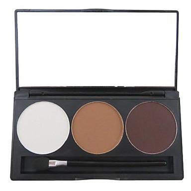 3 Farben Augenbrauen Puder Trocken / Matt / Mineral Auge Bilden Kosmetikum