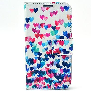 Για Samsung Galaxy Θήκη με βάση στήριξης / Ανοιγόμενη / Με σχέδια tok Πλήρης κάλυψη tok Καρδιά Συνθετικό δέρμα Samsung S4