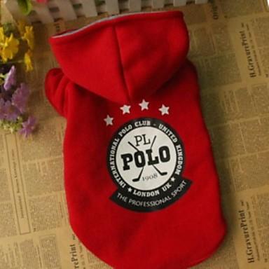 tanie Ubranka i akcesoria dla psów-Psy Bluza z Kapturem Ubrania dla psów Czerwony Niebieski Jasnoniebieski Bawełna Kostium Na Zima Cosplay