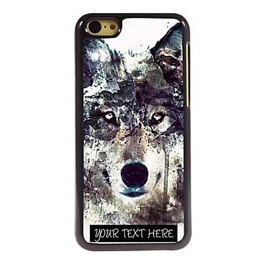 gepersonaliseerde telefoon case - ijsberg wolfsontwerp metalen behuizing voor de iPhone 5c