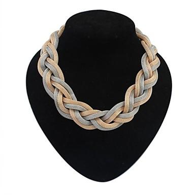 Kadın's Açıklama Kolye - Avrupa, minimalist tarzı Siyah, Gümüş, Koyu Gri Kolyeler Mücevher Uyumluluk