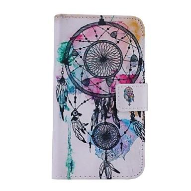 witte klokken patroon pu leer full body case voor de Samsung Galaxy S5 / i9600