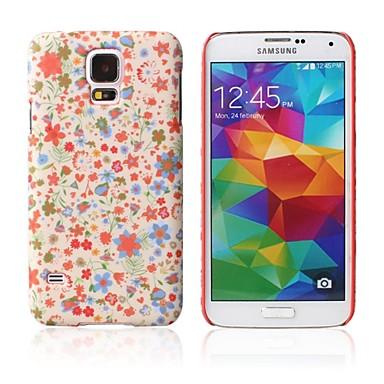 Para Samsung Galaxy Capinhas Estampada Capinha Capa Traseira Capinha Flor PC Samsung S5