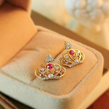 Mov Alb Cristal Coroane Clasic cercei Bijuterii Auriu Pentru Petrecere