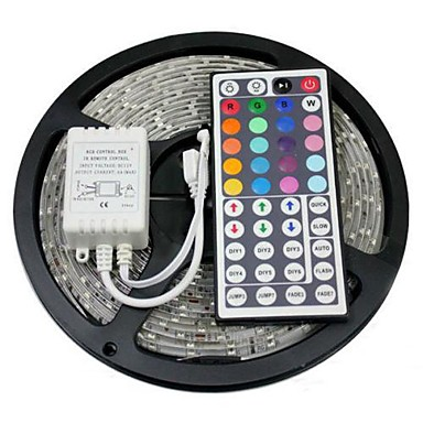 5m Flexible LED Light Strips / Light Sets / RGB Strip Lights LEDs 5050 SMD  Remote