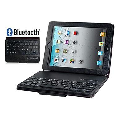 faux lederen flip case met ingebouwde bluetooth toetsenbord voor iPad 2/3/4 (verschillende kleuren)