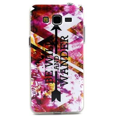 padrão seta roxa caso design da capa TPU durável para Samsung Galaxy i9080 grande / i9082