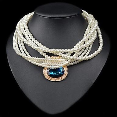 selezione premium a2b7d 8307b grandi multi-collane di perle ciondolo gioiello europee ...