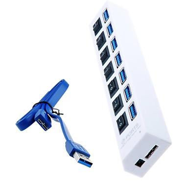 MacBook hava için bireysel güç anahtarlarının ve led ile SuperSpeed 7-port usb hub 3.0, tablet pc (çeşitli renk)
