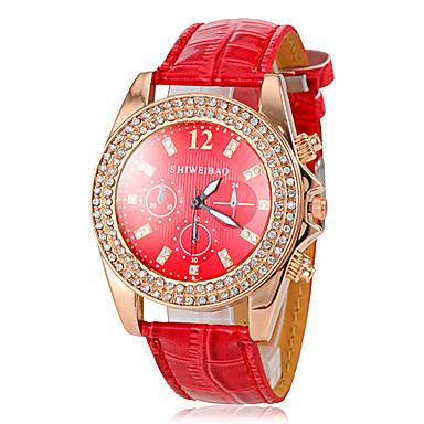 Pentru femei Ceas de Mână Diamond Watch Quartz Piele Roșu imitație de diamant Analog femei Sclipici Casual Ceas de diamant simulat - Rosu / Oțel inoxidabil