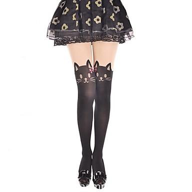 Κάλτσες & Καλτσόν Γλυκιά Λολίτα Cosplay Φορέματα Λολίτα Στάμπα Άνιμαλ Πριντ Καλσόν Για την