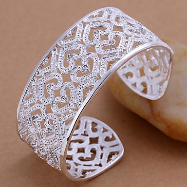 Dames Cuff armbanden Verzilverd Zilver Sieraden Voor Bruiloft Feest Dagelijks Causaal Kerstcadeaus 1 stuks