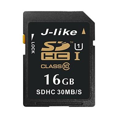 J-like 16GB Κάρτα SD κάρτα μνήμης UHS-I U1 class10