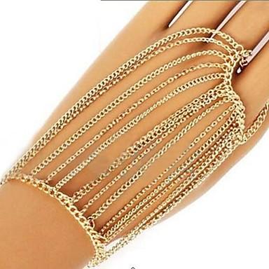 Armbanden met ketting en sluiting Uniek ontwerp Modieus Meerlaags Sieraden Sieraden Voor Feest 1 stuks