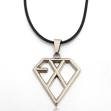 Anhängerketten - Leder Silber Modische Halsketten Für Party, Alltag, Normal