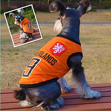 Katze / Hund T-shirt Hundekleidung Orange Baumwolle Kostüm Für Haustiere Sommer Cosplay / Hochzeit