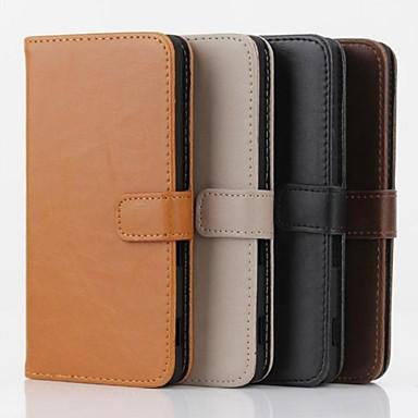 Pentru Carcasă Sony Carcase Huse Portofel Titluar Card Cu Stand Întoarce Corp Plin Maska Culoare solidă Greu PU Piele pentru SonySony
