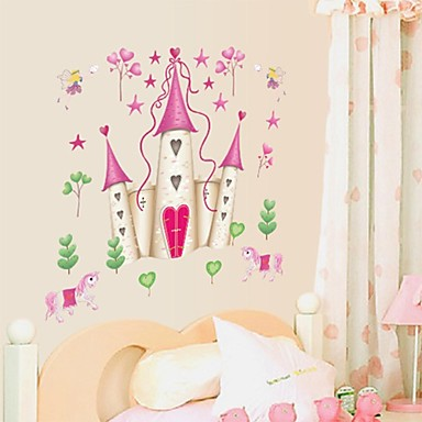muurstickers muur stickers, cartoon disney princess kasteel pvc muurstickers