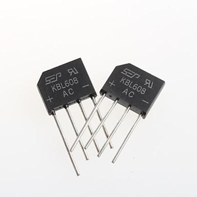 kbl608 platte brug gelijkrichter brug 6a / 800v (5st)
