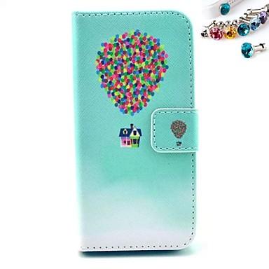 tok Για Θήκη iPhone 5 Θήκη καρτών με βάση στήριξης Πλήρης κάλυψη Μπαλόνια Σκληρή PU Δέρμα για iPhone SE/5s iPhone 5