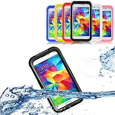 tok Για Samsung Galaxy Samsung Galaxy Θήκη Αδιάβροχη Διαφανής Πλήρης Θήκη Συμπαγές Χρώμα PC για S5 S4 S3