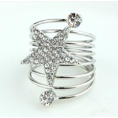 η αγάπη είναι το ασημένιο αστέρι της ζώνης ελατηρίου δαχτυλίδι κλασικό θηλυκό στυλ