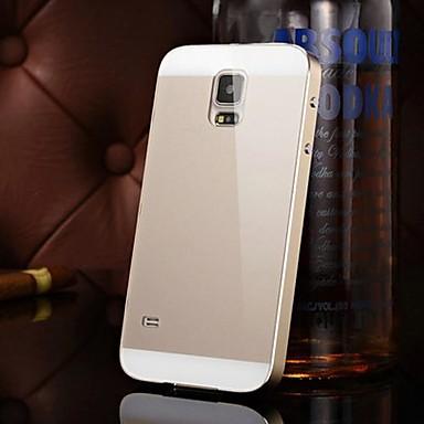Dois-em-um kx caso duro espelho moldura de metal da marca acrílico backplane de metal para Samsung Galaxy S5
