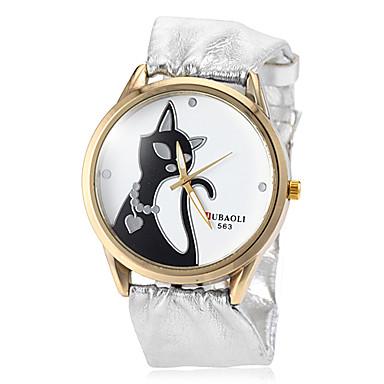 Kadın's Moda Saat Bilek Saati Quartz Büyük indirim PU Bant Analog İhtişam Gümüş - Altın Siyah