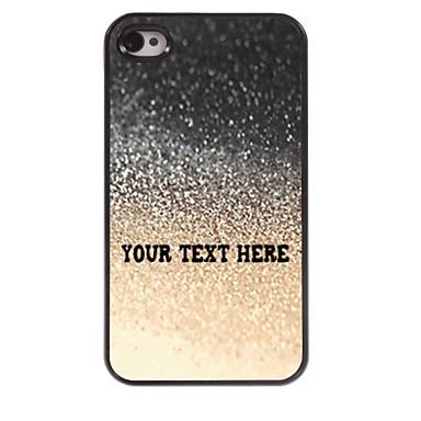 caso de telefone personalizado - gota caso design de metal água para iPhone 4 / 4S