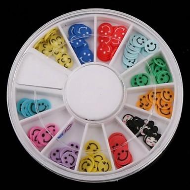 12-kleuren vruchten ontwerp polymeer nail art decoratie