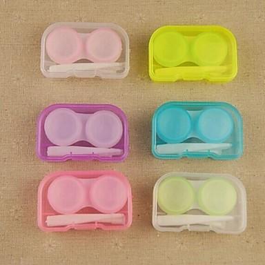 taşınabilir depolama kutusu şeker renkli kontakt lensler (rastgele renk)